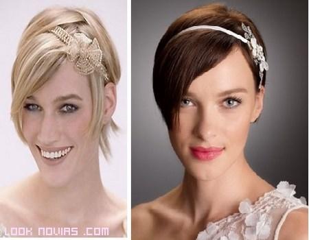 Tocados Para Novias De Pelo Corto - Adornos-de-novia-para-el-cabello