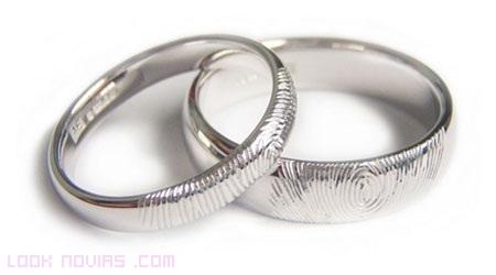Alianzas de boda con tus huellas digitales