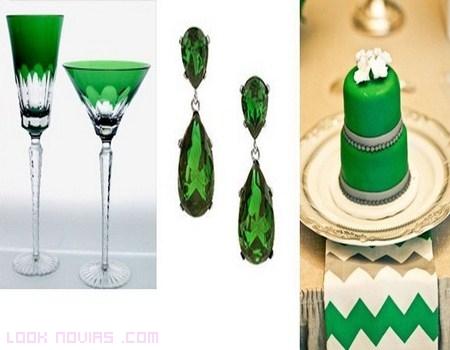 Bodas con el color de moda: verde esmeralda