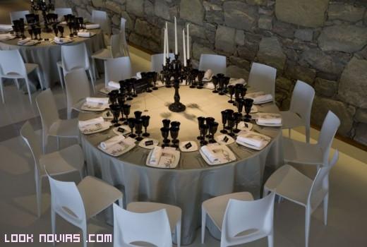 Decoración de mesas en colores claros