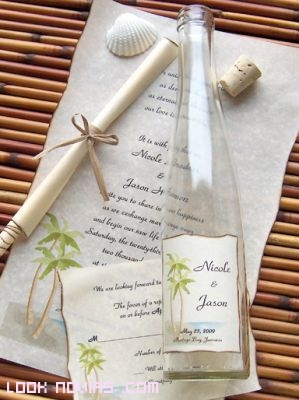 invitaciones en forma de pergamino