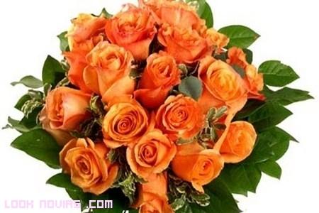 Ramos de novia en color naranja