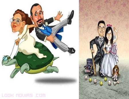 Invitaciones con divertidas caricaturas