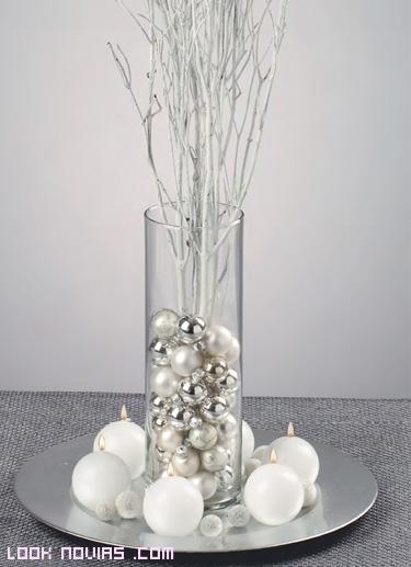 Decoraci n de bodas con cristal for Centro de mesa de cristal