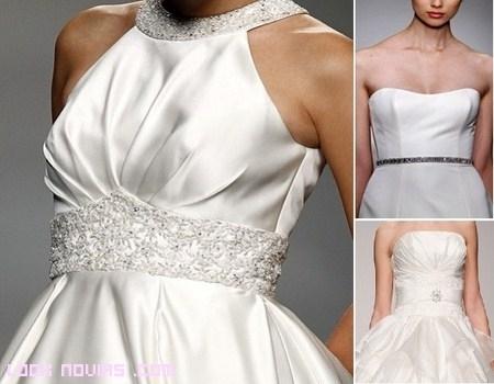 Apliques para las cinturas de las novias