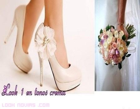 Combinar el ramo de novia con los zapatos