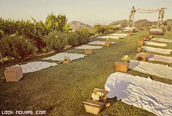 sábanas para la decoración del picnic
