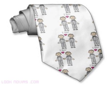 Corbatas personalizadas para novios