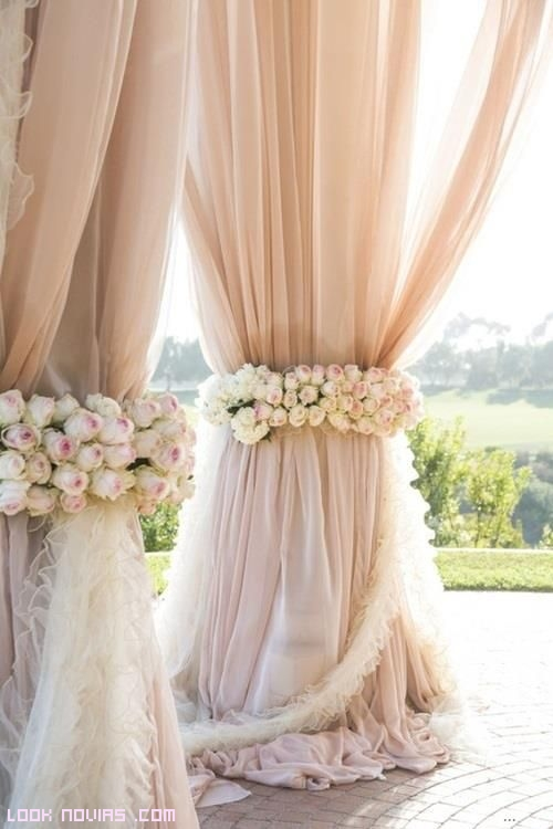 cortinas elegantes para boda