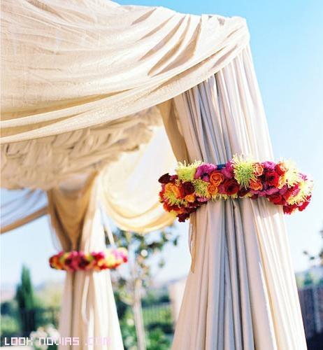 tipos de cortinas para decorar bodas