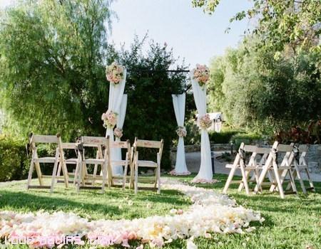 decoración de boda con cortinas