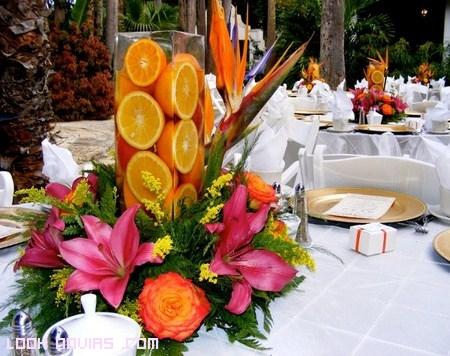 Decoración de mesas con frutas