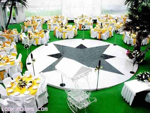 mesas redondas para boda