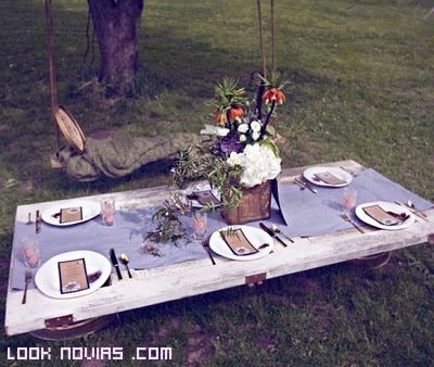 mesas rústicas para bodas