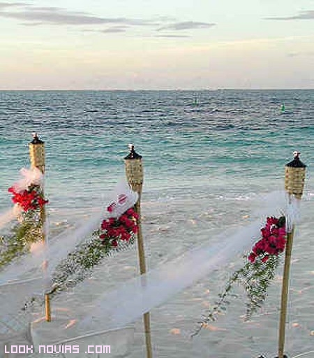 antorchas para bodas elegantes