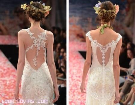Escotes en la espalda para novias