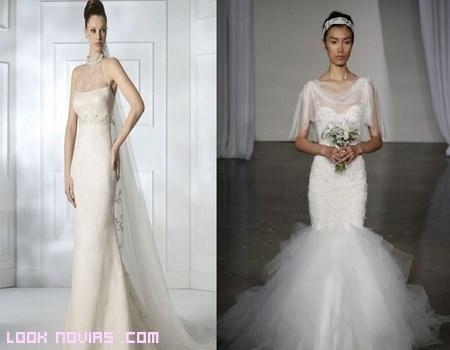 Escotes con transparencias para novias 2013