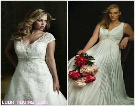 Vestidos ideales para novias con mucho pecho
