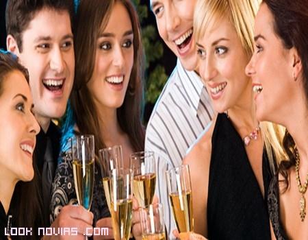 fiestas con los amigos