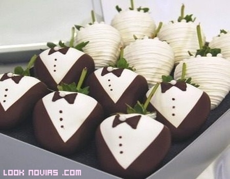 Fresas decoradas para tu buffet de postres