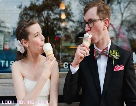 Resultado de imagen para helado novios años 50