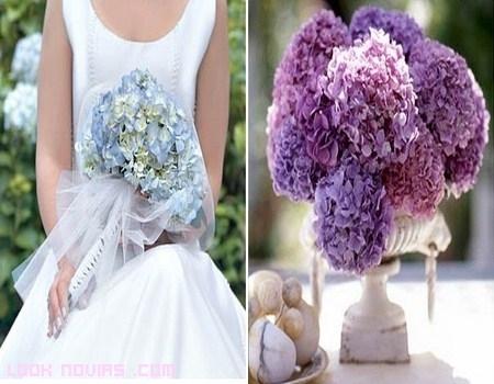 Una boda decorada con hortensias