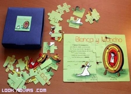 Unas invitaciones para toda la familia: estilo puzzle