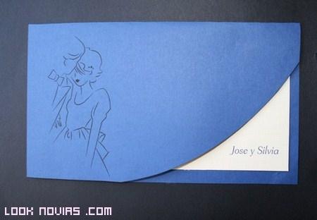 invitaciones en color azul
