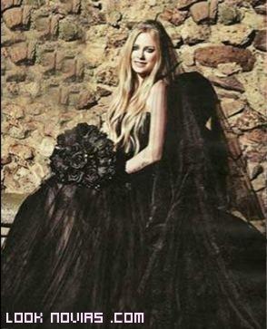 ramo de novia en negro