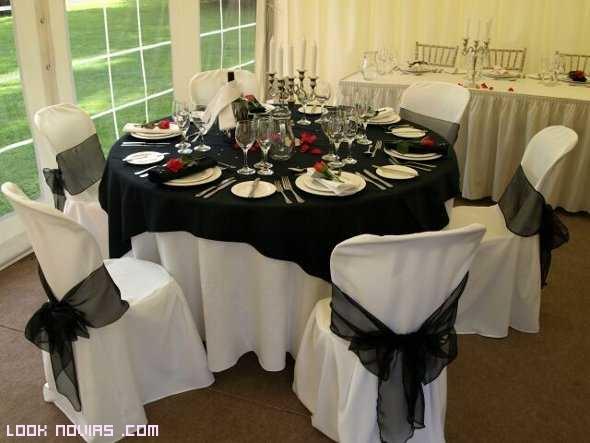 manteles en color negro para bodas