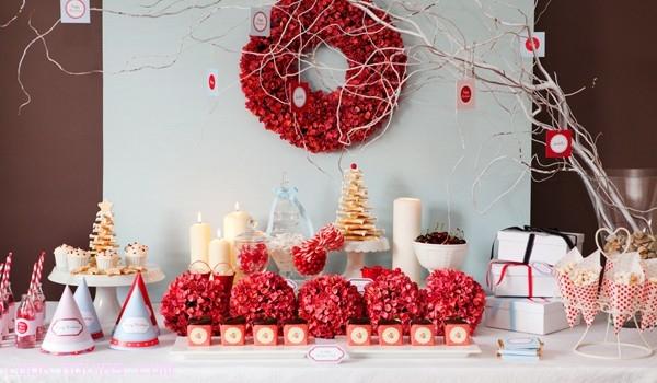 mesa de postres para boda en rojo imagui