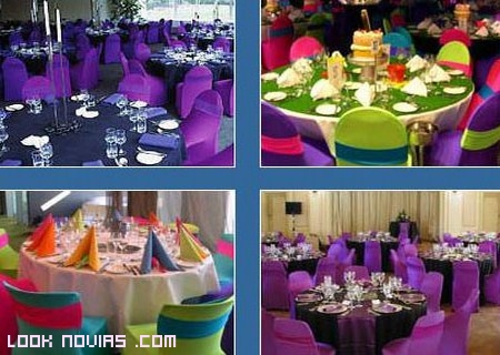 manteles de color para tu boda