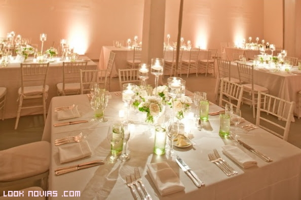 decoracin de mesas con velas