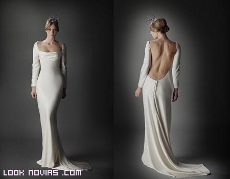 vestidos largos con cola para novia