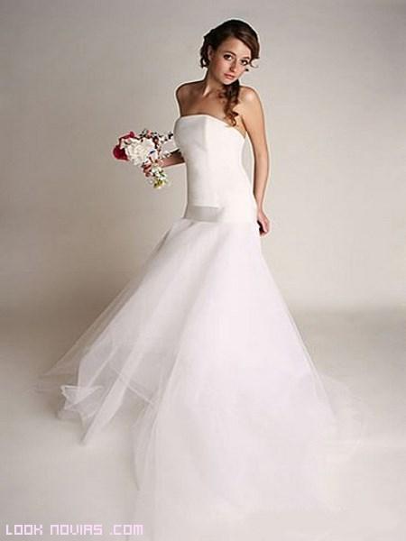 vestidos de novia con cintura baja
