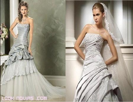Color plata para novias