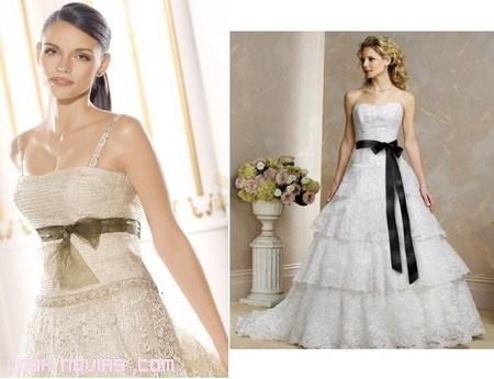 vestidos de novia con lazos