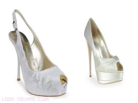 peep toes para novias