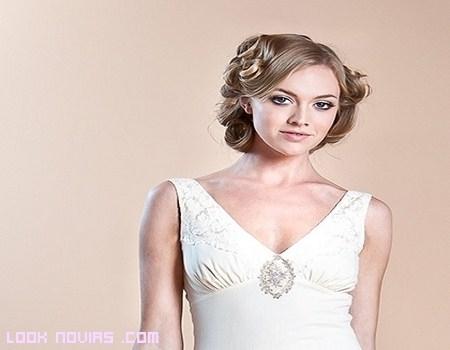 Peinados vintage para novias