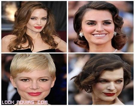 Peinados de las famosas en los Óscars 2012