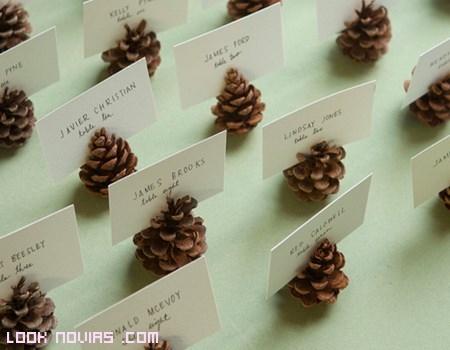 Pi as para la decoraci n de boda - Adornos para navidad con pinas ...