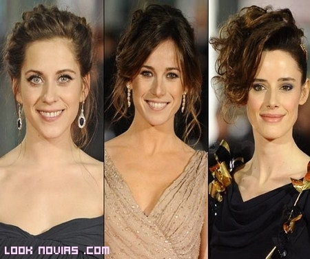 Inspírate en los peinados de los Goya 2012
