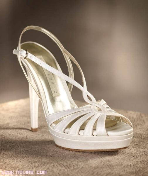 sandalias de tiras para novias