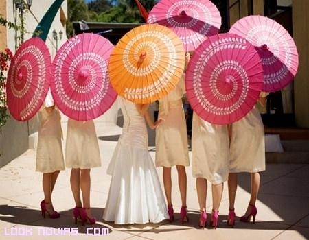 Sombrillas para tu boda original