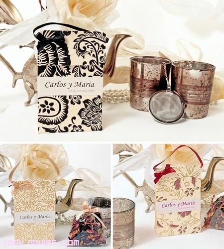 Bolsitas de té como regalo para invitados