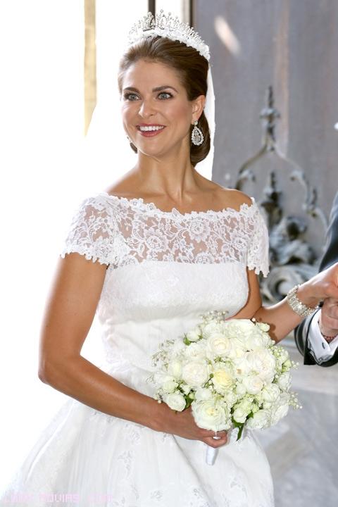 magdalena de suecia y su vestido de novia