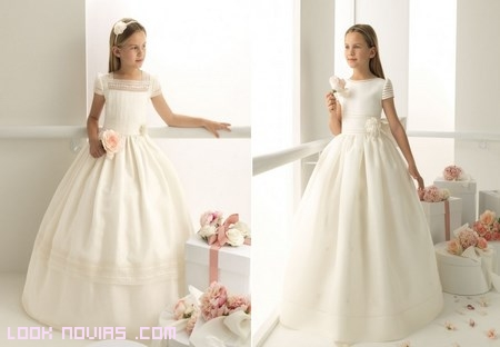 vestidos blancos de Rosa Clará