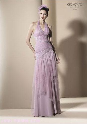 vestidos largos de escote halter