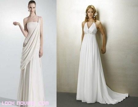 Vestidos de corte griego para novias