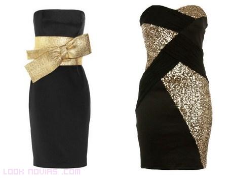 Vestidos negros y dorados